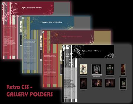 RETRO CSS GALLERY FOLDERS UPDATED Dec 2013 by Elandria
