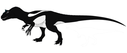 Magpie Allosaurus - THE ISLE GAME by wolffuchs