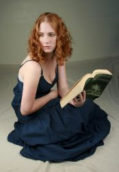 Woman Reading II by IQuitCountingStock