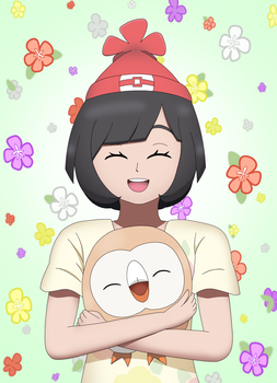 Me and Rowlet by CyaniDairySentinel