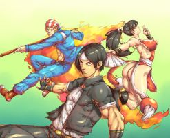 The king of Fighters 97 - Fiery Vigor Team by Mick-cortes