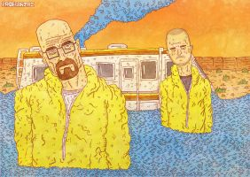 Walter and Jesse by ProfessorBanzai