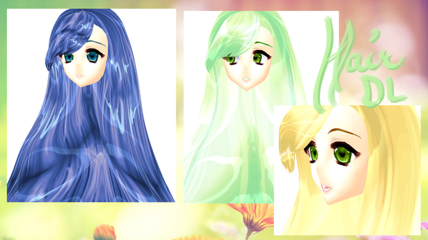 [MMD} Smooth Silky Hair DL by DeidaraChanHeart