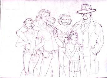 Family Portrait 2011 roughs by BaaingTree