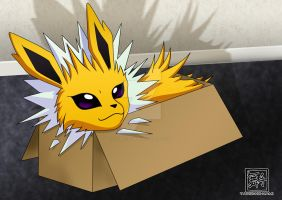 Jolteon in a Box by Tanbi-no-Kami