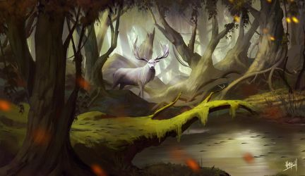 deer forest by yohan-haash