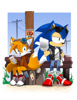 Sonic the Hitchhog by bleedman