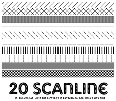 Scanline Patterns by SilentSuffix