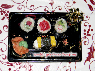 Maki Sushi Holiday Ornament Decorations by MorganCrone