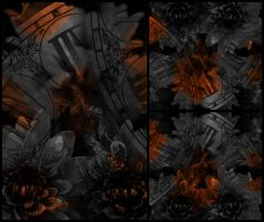 4 orange textures by Andro1990