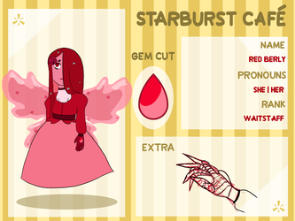 Starburst Cafe Application - red beryl by Blixxing
