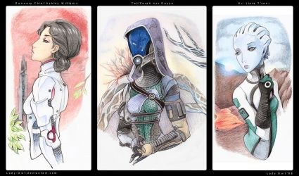 Ladies of Mass Effect by Lady-Owl