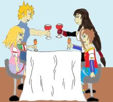 Request: Heroicsonnyjim. Double Date by ChikaraRyoku