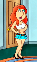 Lois in very short skirt by normal9648