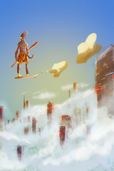 On A Cloud by t5FX