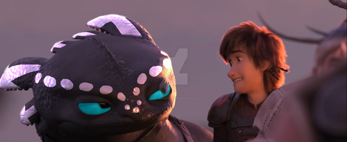 Stormflight and Hiccup by SilverNight290