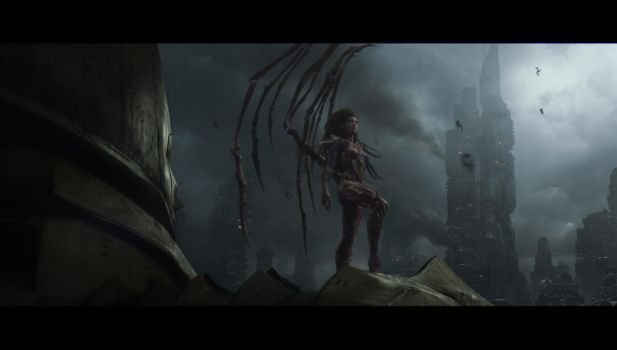 Heart of the swarm matte shot by leventep