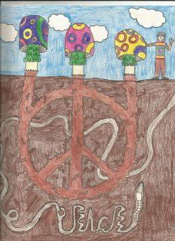 mushroom peace sign by hillbilly-otaku