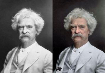 Colorization: Mark Twain by marinamaral