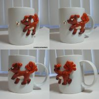 Vulpix Butterfly Mug by ChibiSilverWings