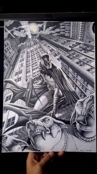 Batman on Gargoyle 02 by caiocacau
