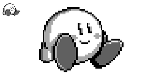 Simple little Kirby sprite by ThePurpleSprite