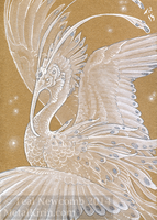 Space Phoenix ACEO by thedancingemu