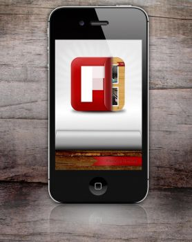 Flipboard icon for iPhone by turnpaper