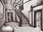Tarragon Manor -Foyer- Sketch