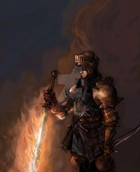 Fireknight by lionelmarty