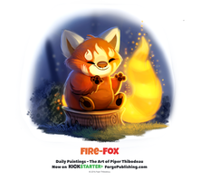 Daily 1331. Fire-Fox by Cryptid-Creations