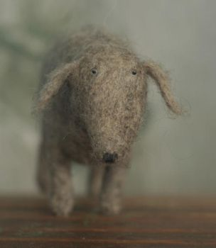 needle felted dog by vriad-lee