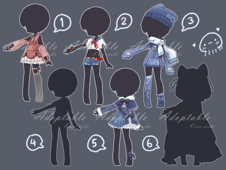 [CLOSED] Adoptable: Outfits VII by ZylenXia