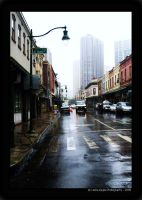 Rain in the City by LeslieE