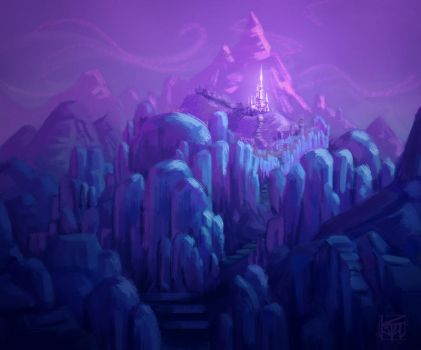 Ice Kingdom speed painting (revisited) by antonio-panderas