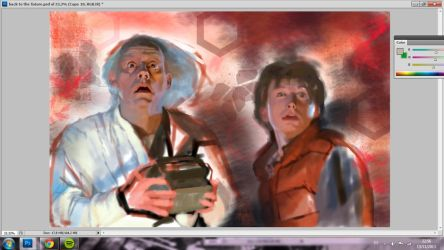Making of: Back to the future by BluishDreams