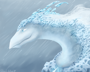 Smaugust #13 - Ice dragon - Lumina by Floverale-Hellewen