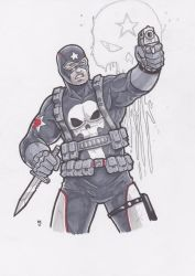 Punisher as Captain America by Alexander463
