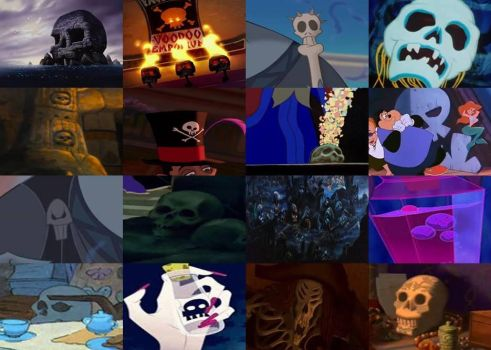Disney Skulls and Skeletons in Movies Part 2 by dramamasks22
