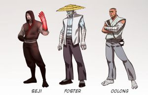 Cadre Characters line up 1 by jofsuarez