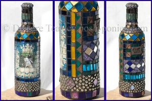 Mosaic Wine Bottle by Deirdre-T
