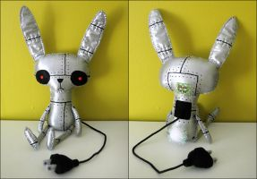 Sprocket the Robot Rabbit by BibelotForest