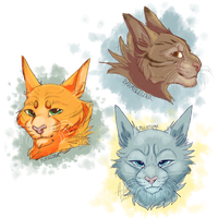 The Leaders of Thunderclan by Coeuralma