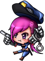 Officer Vi Chibi by KemiKuri