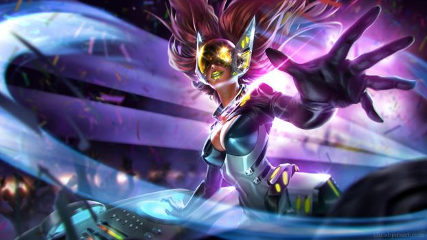 Fan-Splash DJ Sona by ChrisBjors