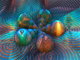 Flow of Universes - 3D version (phung B #1) by Jakeukalane
