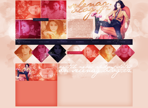 layout ft. Selena Gomez by Andie-Mikaelson