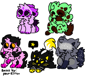 Adopts! (2/5 OPEN) (15 Each!) by Crystal-Kawaii