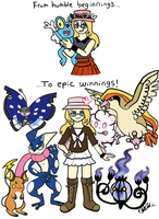 Pokemon X: From Trainer to Champion! by LizDraws