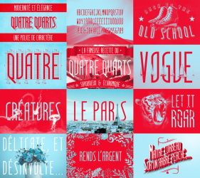 Quatre Quarts - free font by Dessins-Fantastiques